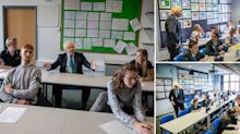 Boris Johnson criticised for 'thinly veiled publicity stunt' during school visit