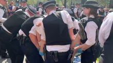 Police Move to Remove Extinction Rebellion Protesters From Parliament Square in London