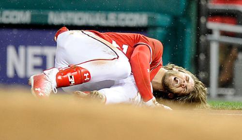MLB: Knochenprellung: Lange Pause für Bryce Harper