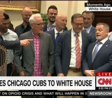 Cavs owner Dan Gilbert was at the Cubs' visit with President Trump, which is weird