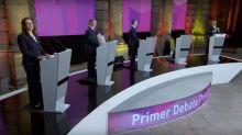 VIDEO | Sin despedirse de nadie, así se fue AMLO del debate