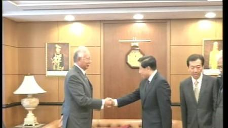 MH370 TRAGEDY:NAJIB RECEIVES COURTESY CALL FROM CHINA'S SPECIAL ENVOY