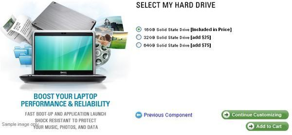 Dell Mini 9 gets 64GB SSD option for Linux, same 'ol for Windows