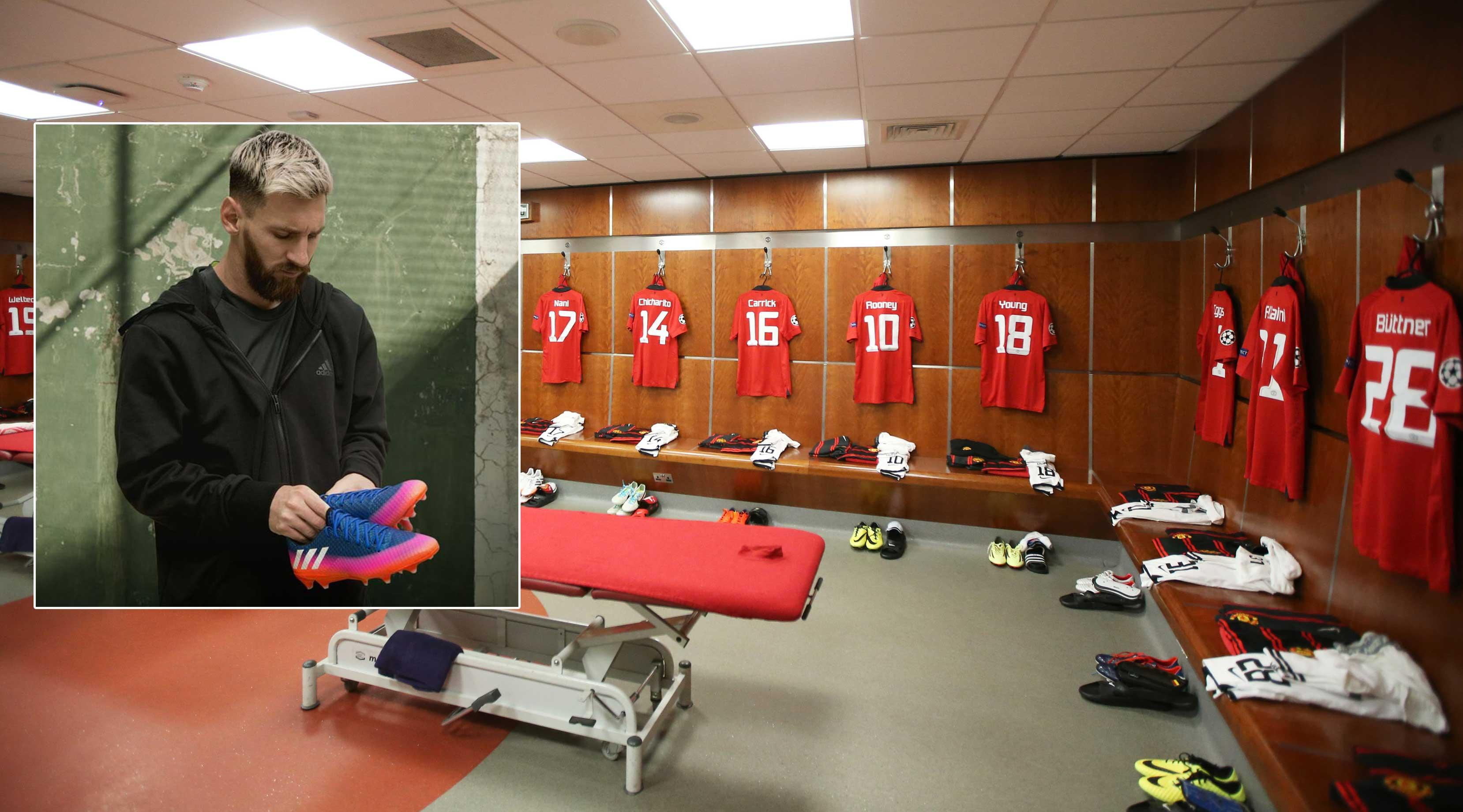 Why Manchester United Have A Picture Of Leo Messi Pinned Up