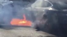 Hollywood couple's Tesla Model S burns 'out of the blue' in video