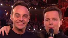 'I don't feel I can accept this': Ant McPartlin dedicates NTA to a teary Declan Donnelly