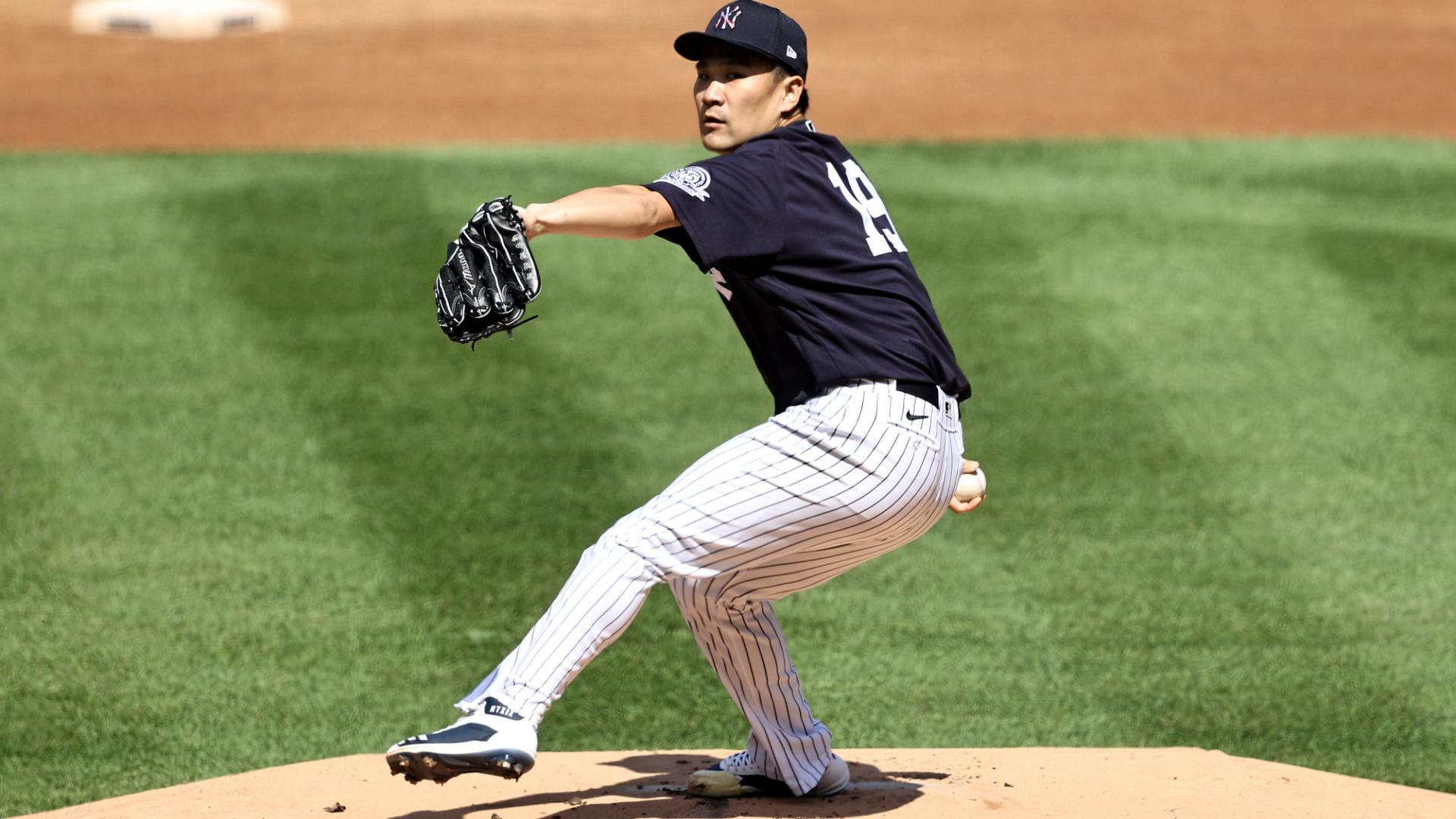 Yankees pitcher Masahiro Tanaka throws BP ahead of planned July 31 return