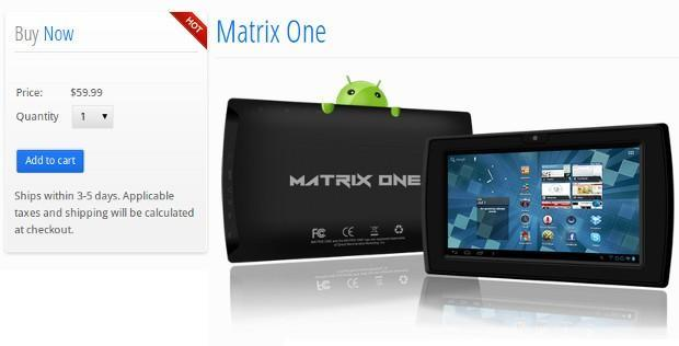 Matrix One drops to $60, moves from impulse purchase to disposable tablet