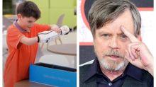 Luke Skywalker congratulates Star Wars super fan on BB-8 bionic arm