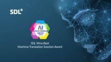 SDL Wins AI Breakthrough Award for Best Machine Translation Solution