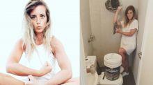 Una joven y bella 'mami' conquista Instagram con sus tips de albañilería