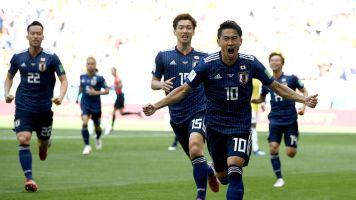 Japan shock 10-man Colombia