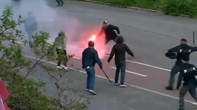 Clashes, shooting, before Italian Cup soccer final