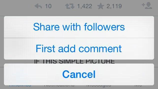 ​Twitter is experimenting again, tries replacing 'retweet' with 'share' button