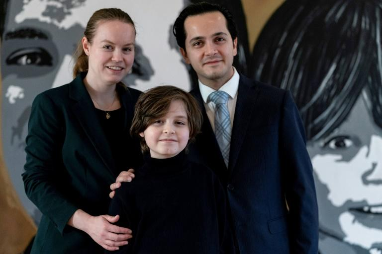 "He was raised in Ostend by his grandparents until the start of this year, as his parents Alexander and Lydia were ""busy with work (AFP Photo/Kenzo TRIBOUILLARD)"