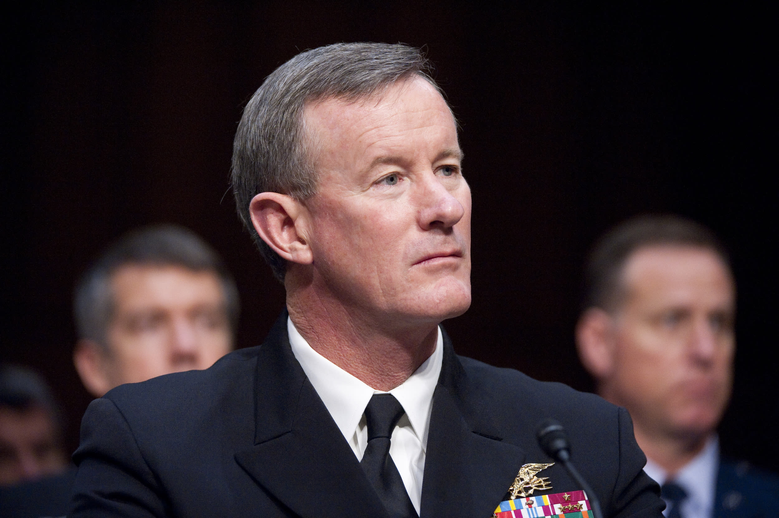 UNITED STATES â MARCH 6: Navy Adm. William McRaven, commander of U.S. Special Operations Command, testifies during the Senate Armed Services Committee hearing on 'The U.S. Central Command and U.S. Special Operations Command in review of the Defense Authorization Request for FY2013 and the Future Years Defense Program' on Tuesday, March 6, 2012. (Photo By Bill Clark/CQ Roll Call)
