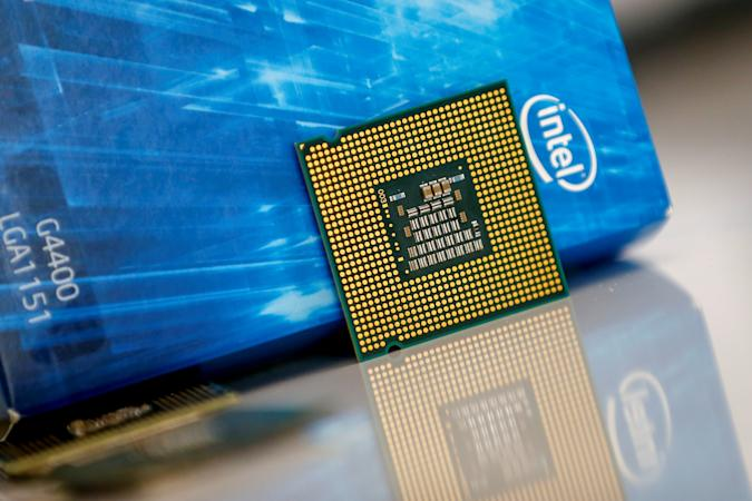 ANTALYA, TURKEY - DECEMBER 6: Intel processor chip for Samsung is seen in this illustration photo in Antalya, Turkey on December 06, 2019. (Photo by Mustafa Ciftci/Anadolu Agency/Getty Images)