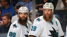 Watch Sharks stars Thornton, Burns in hilarious beard ad