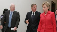 Hillary Clinton and Lindsey Graham together