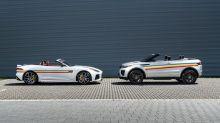 Jaguar F-Type SVR and Range Rover Evoque Convertibles go rainbow for Pride