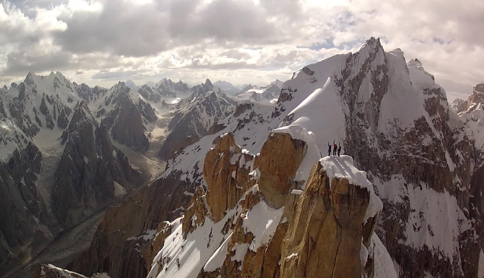 Drones capture mountain scenery in Pakistan