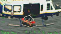 NYPD Helicopter Helps Rescue Stranded Jet Skier