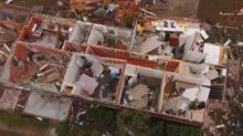 Drone video shows extent of tornado damage in U.S. town