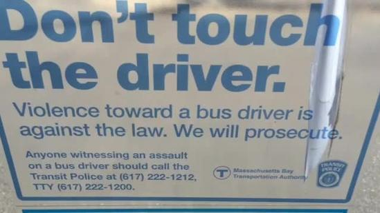 MBTA tests buses with barriers