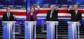 Fact-checking the Democratic debate in Nevada. (AP Photo/John Locher)