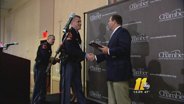 Raleigh police officer was honored as 'Hero of the Year'