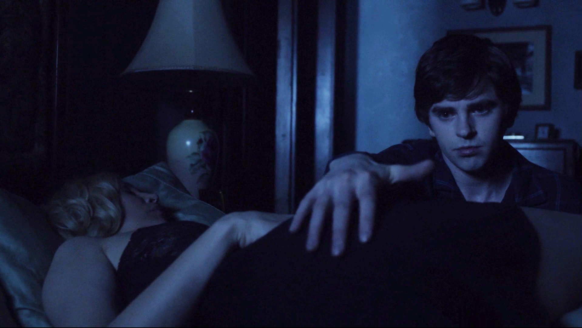 mother son spooning naked 'Bates Motel': 5 Creepiest Mother-Son Moments [Video]