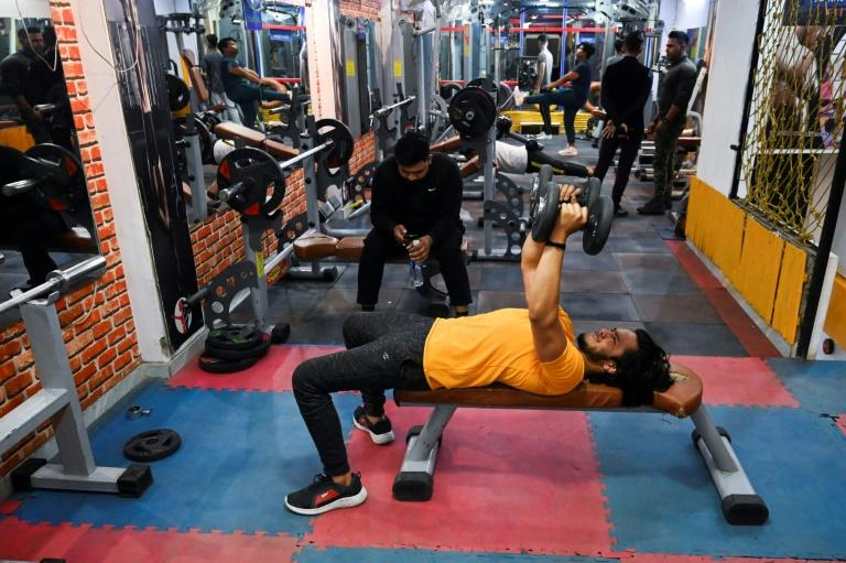 India has a booming bodybuilding culture and for many, extra hours are needed to burn off unwanted fat, no matter the risks (AFP Photo/Sajjad HUSSAIN)
