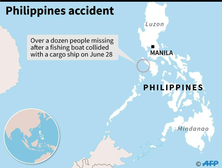 Filipinos missing from fishing boat after collision at sea