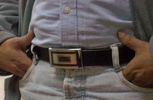 Ajoka makes belt buckle, crams a video camera in it