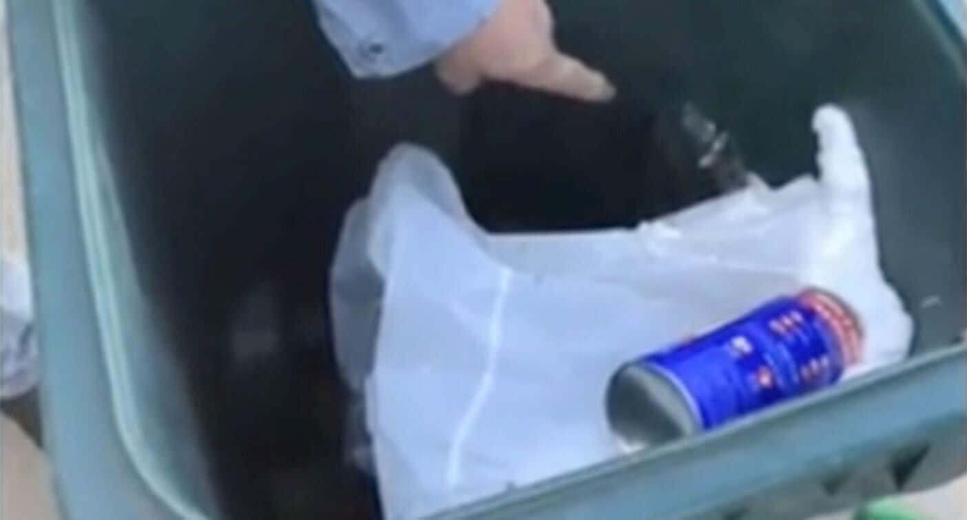 Rubbish collector makes cruel discovery in garbage bin