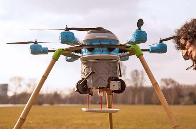 The Kafon Drone clears minefields 20 times faster than people