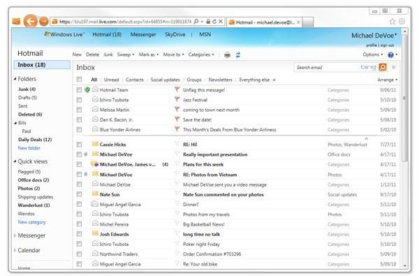 Microsoft adding new features to Hotmail over 'the coming weeks,' releases an Android app