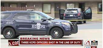 Police. Suspect who shot 3 Kansas City cops is killed