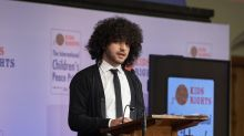Child peace prize winner warns Davos elite 'forgetting' huge global issue