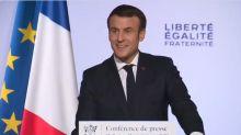 """Macron interrogé sur 2022: """"Beaucoup de choses peuvent arriver d'ici là"""""""