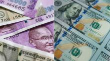 Rupee drops 32 paise to close at 2-wk low against dollar