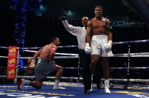 Joshua beat Klitschko in a stunning fight