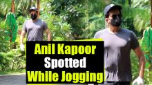 Anil Kapoor Spotted in Juhu While Jogging
