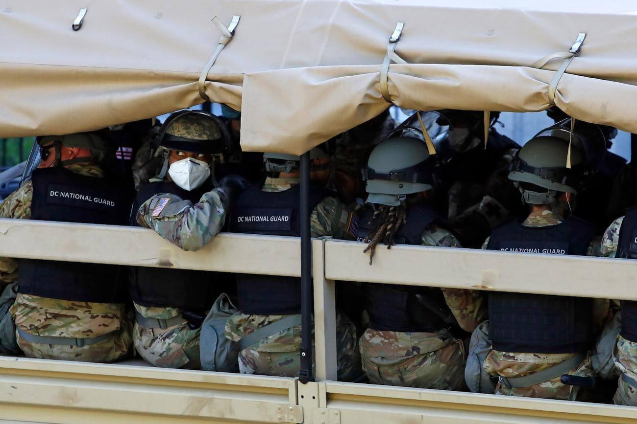 Active-Duty Troops Remain Outside DC as Guard Force Grows