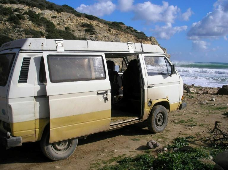 German police appealed for information about two vehicles including a Volkswagen T3 Westfalia with a Portuguese plate (AFP Photo/Handout)