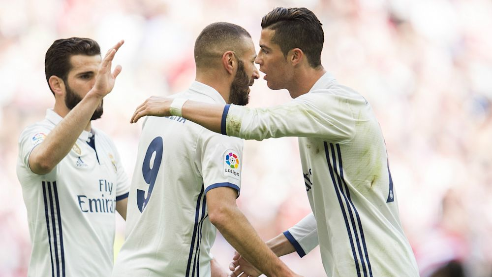 Athletic Bilbao 1 Real Madrid 2: Benzema and Casemiro send Zidane's side five points clear