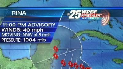 Tropical Storm Rina Forms