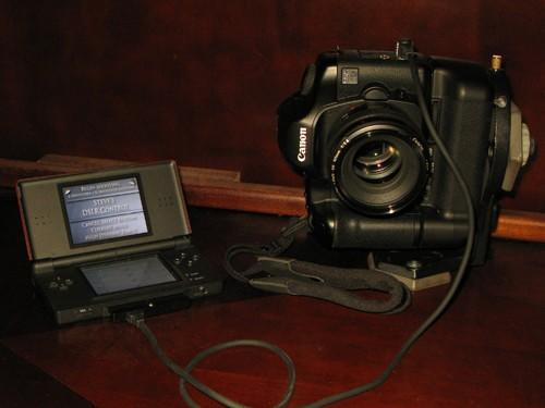 Nintendo DS hacked to control DSLR shooting