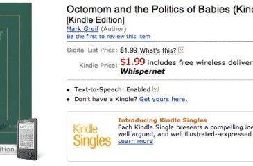 Kindle Singles available now on Amazon