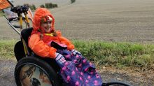 'My real Wonder Girl': Six-year-old with muscular dystrophy walks 300km in 30 days